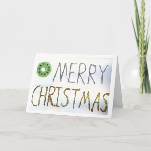 The Glitter Merry Christmas Card card