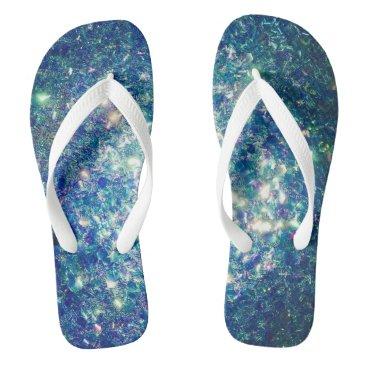 Beach Themed the Glitz Glitter Flip Flops by Fairy-Dust!