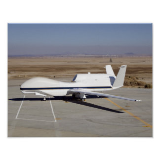 The Global Hawk unmanned aircraft Print