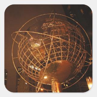 The Globe at Columbus Circle Square Sticker