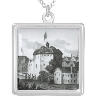 The Globe Theatre on the Bankside Silver Plated Necklace
