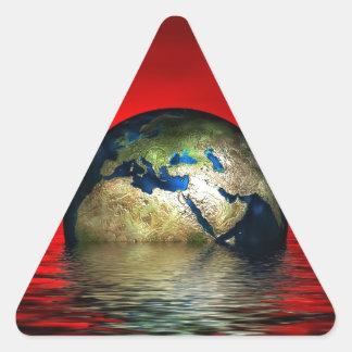 The Globe Triangle Sticker