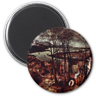 The Gloomy Day Month Of February Or March By Bru Refrigerator Magnet