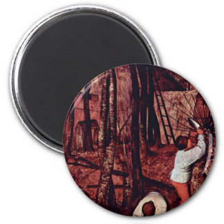 The Gloomy Day Month Of February Or March Detail Refrigerator Magnets