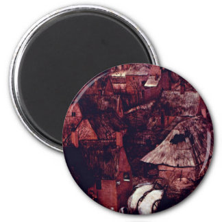 The Gloomy Day Month Of February Or March Detail Fridge Magnet