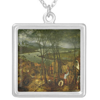 The Gloomy Day - Spring, 1559 Square Pendant Necklace
