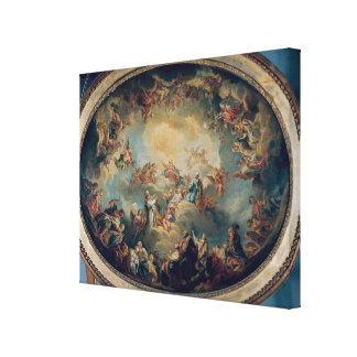 The Glorification of the Virgin, 1731 Canvas Print
