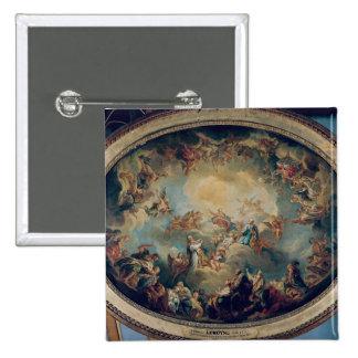 The Glorification of the Virgin, 1731 Pinback Button
