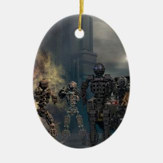 the glorious seven robots b ceramic ornament