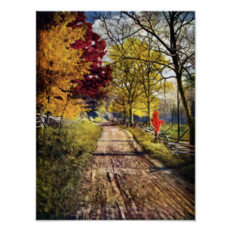 The Glory of Autumn Trees Poster