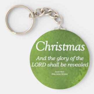 The Glory of God Shall be Revealed Isaiah 40-5 Keychain