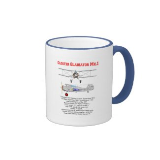The Gloster Gladiator of 73 squadron RAF 1937 Ringer Coffee Mug