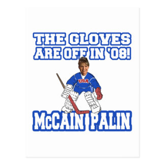 The Gloves Are Off McCain Palin Postcard