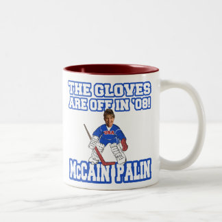 The Gloves Are Off McCain Palin Two-Tone Coffee Mug