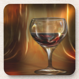 The glow of red wine coaster
