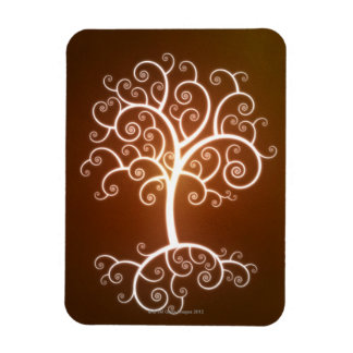 The Glowing Tree Magnet