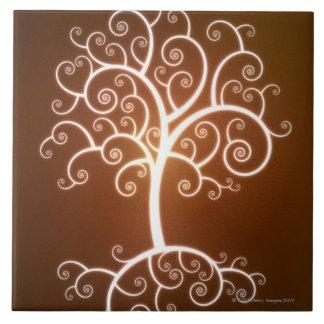 The Glowing Tree Ceramic Tile