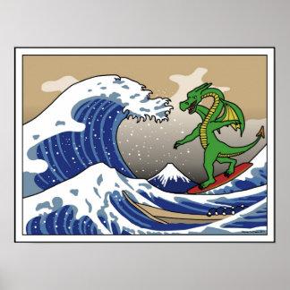The Gnarly Wave off Kakogawa Poster
