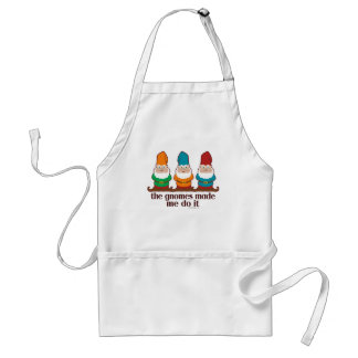 The Gnomes Made Me Do It Adult Apron