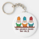 The Gnomes Made Me Do It Keychain