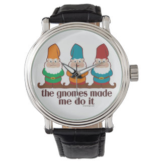 The Gnomes Made Me Do It Wristwatches