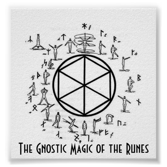 The Gnostic Magic of the Runes Poster