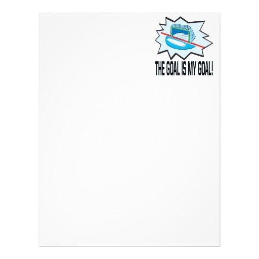 The Goal Is My Goal Letterhead Design