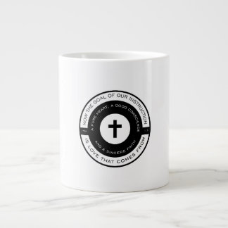 The goal of our instruction, 1 Timothy Scripture Giant Coffee Mug