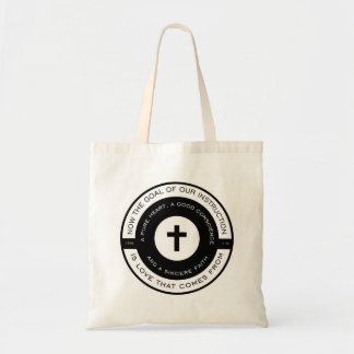 The goal of our instruction, 1 Timothy Scripture Tote Bag