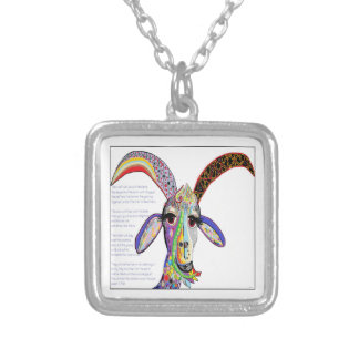 The Goat and the Leopard Silver Plated Necklace