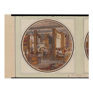 The Gobelins Workshop, 1840 Postcard