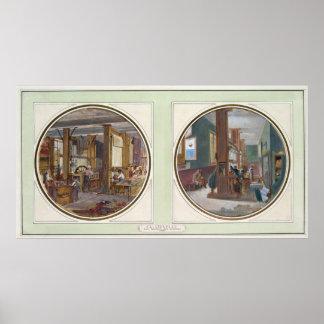 The Gobelins Workshop, 1840 Poster
