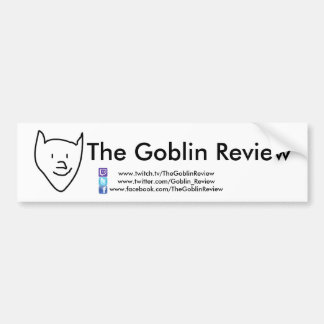 The Goblin Review bumper sticker!!!!  Basic style. Bumper Sticker