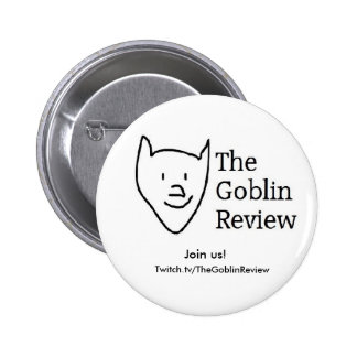 The Goblin Review, button!  Basic style. Pinback Button