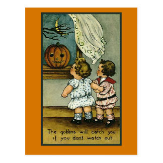 The Goblins Will Get You....Cute Halloween Card
