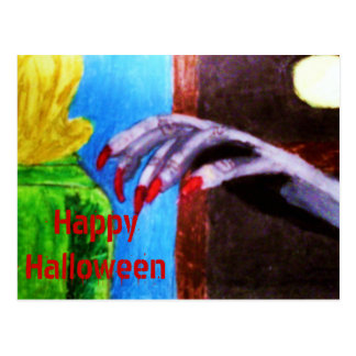 THE GOBLINS WILL GET YOU. HALLOWEEN card