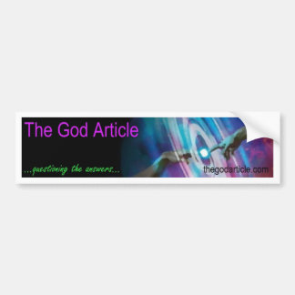 The God Article Banner Products Bumper Sticker