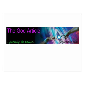 The God Article Banner Products Postcard