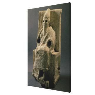 The god El, from Ugarit, 13th century BC (limeston Canvas Print