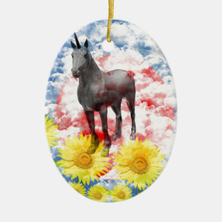 The God horse which ranges the empyrean Ceramic Ornament