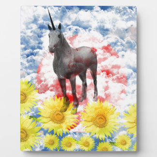 The God horse which ranges the empyrean Photo Plaque