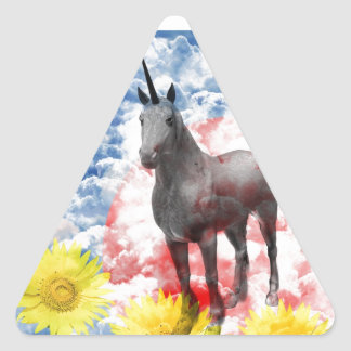 The God horse which ranges the empyrean Triangle Sticker