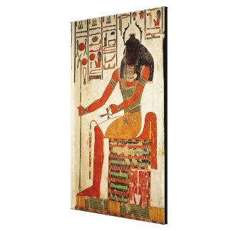 The god, Khepri, from the Tomb of Nefertari Canvas Print