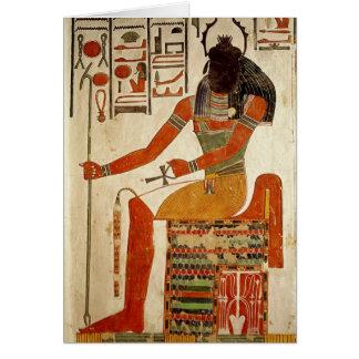 The god, Khepri, from the Tomb of Nefertari Card