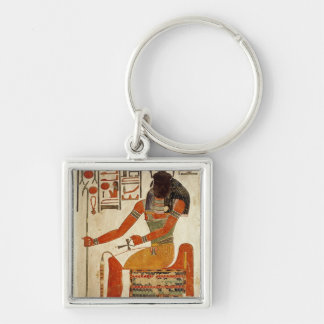 The god, Khepri, from the Tomb of Nefertari Keychain