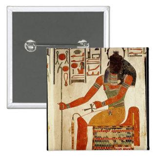 The god, Khepri, from the Tomb of Nefertari Pinback Button