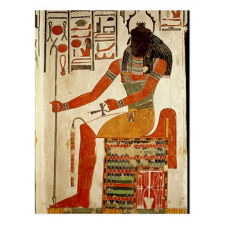 The god, Khepri, from the Tomb of Nefertari Postcard