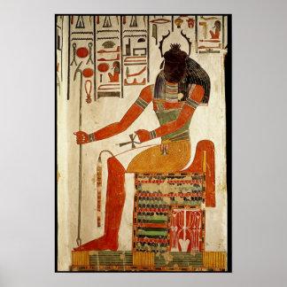 The god, Khepri, from the Tomb of Nefertari Poster