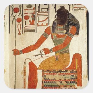 The god, Khepri, from the Tomb of Nefertari Square Sticker