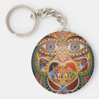 The God of Healing  Basic Round Button Keychain
